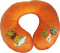 Детская подушка-валик WINNI THE POOH под шею в индивидуальной сумочке (оранжевый) ТМ Eurasia-Disney 25199