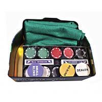 Набор для игры в покер в оловянном кейсе, 200 фишек