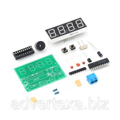 Цифровые электронные часы C51 4 бит DIY комплект