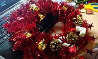 """Рождественский/новогодний венок на дверь """"Модный Новый год"""""""