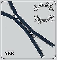 Молния металлическая 100см двухбегунковая №5YKK темно-синяя