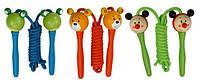 Детская скакалка с деревянными ручками Животные ТМ Bino 9982767