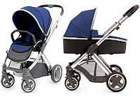 Детская универсальная коляска 2 в 1 Oyster 2 Navy / Mirror ТМ BabyStyle
