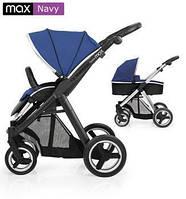 Детская универсальная коляска 2 в 1 Oyster Max Navy / Mirror ТМ BabyStyle  (люлька+прогулочный блок)