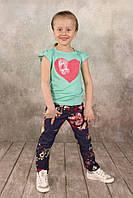 Детская футболка для девочки 2-7 лет, размер 92-122 ТМ Модный карапуз 03-00581-0