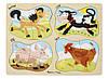 """Детские деревянные пазлы 4 в 1 """"Ферма"""" (4-in-1 Farm Peg) ТМ Melissa & Doug MD9858, фото 4"""