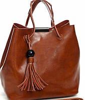 Кожаная сумка - мешок бренд Vidoliya