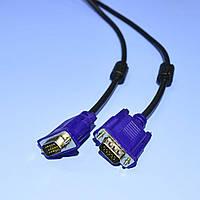 Шнур VGA штекер-штекер с фильтрами черный 4-0063-3  3.0м