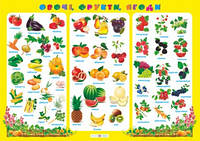 Плакат 70*50 Овочі фрукти ягоди