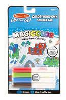Детские магические наклейки-раскраски – голубые (Color-Your-Own Sticker Book - Blue) ТМ Melissa & Doug MD9130