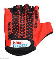 Детские перчатки для спорта Kiddi Moto, 2-4 года (красные с рисунком протектора) ТМ Kiddi Moto CLO-64-52