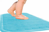 Детский антискользящий коврик в ванную XL ТМ KinderenOK Голубой