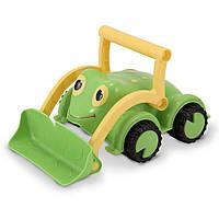 """Детский бульдозер """"Лягушонок"""" (Froggy Bulldozer) ТМ Melissa & Doug зеленый MD6270"""