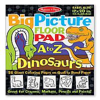 """Детский гигантская раскраска с динозаврами """"Английский алфавит"""" ТМ Melissa & Doug MD19111"""