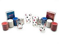 Набор для игры в пьяный покер, 200 фишек, 4 рюмки