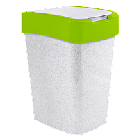 Ведро для мусора Евро 25л Бело-зелёный