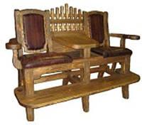 Кресло бильярдное из натурального дерева
