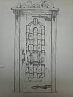 Дверь межкомнатная из натурального дерева