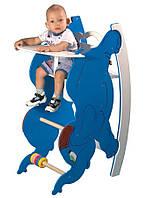 """Детский деревянный стульчик - трансформер для кормления с качалкой и столиком """"Слоник"""" ТМ SportBaby"""