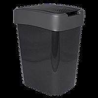 Ведро для мусора Евро 45л Серый