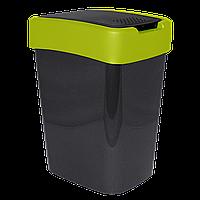 Ведро для мусора Евро 45л Серо-зелёный