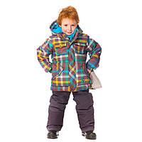 Детский зимний термокостюм для мальчика 2-5 лет  (куртка, полукомбинезон, манишка) ТМ Deux par Deux K 812-964