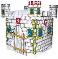 """Детский игровой картонный домик-раскраска """"Замок"""" (80х80х88см) ТМ Bino 44003"""