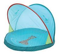Детский игровой коврик-бассейн с козырьком от солнца «Sophie La Girafe» с рождения ТМ LUDI Голубой SLG-03