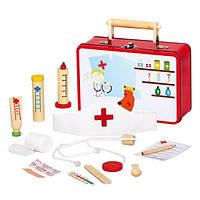 Детский игровой набор для игры в доктора из 13 предметов в металлическом чемоданчике (ТМ Bino, 83529)