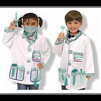"""Детский карнавальный костюм """"Доктор"""" для ребенка 3-6 лет ТМ Melissa & Doug MD14839"""