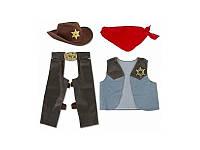 """Детский карнавальный костюм """"Ковбой"""" на мальчика 3-5 лет Melissa & Doug (MD4273)"""