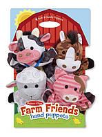 """Детский кукольный театр """"Животные фермы"""" (Farm Hands Animal Puppets) 4 эл. ТМ Melissa & Doug MD19080"""