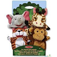 "Детский кукольный театр ""Зоопарк"" (Safari Sidekicks Hand Puppets) 4 эл. ТМ Melissa & Doug MD19081"