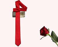 Мужской узкий галстук, красный artuz1-001