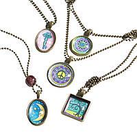 """Детский набор для юных дизайнеров """"Кулончик"""" (Press-a-Pendant Necklaces) ТМ Melissa & Doug MD9471"""