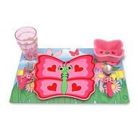 "Детский набор посуды ""Бабочка Белла"" (Bella Butterfly Mealtime Set) ТМ Melissa & Doug розовый MD6576"