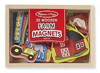 """Детский набор фигурок с магнитами """"Ферма"""" (Wooden Farm Magnets) ТМ Melissa & Doug MD19279"""