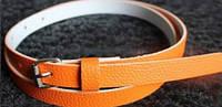Пояс женский Текстурный оранжевый/ цвет оранжевый/ материал PU