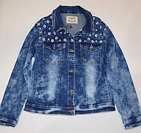 Джинсовая куртка пиджак 158, 164