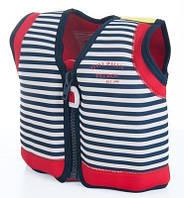 Детский плавательный жилет Original Konfidence Jacket Blue Stripe М / 4-5 лет ТМ Konfidence KJ15-C-05