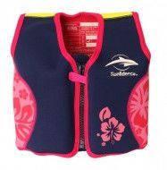 Детский плавательный жилет Original Konfidence Jacket S/ 2-3 года ТМ Konfidence (Navy/Pink/Hibiscus) KJ05-B-03