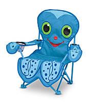"""Детский раскладной стульчик """"Осьминог Флекс"""" (Flex Octopus Chair) ТМ Melissa & Doug синий MD6418"""