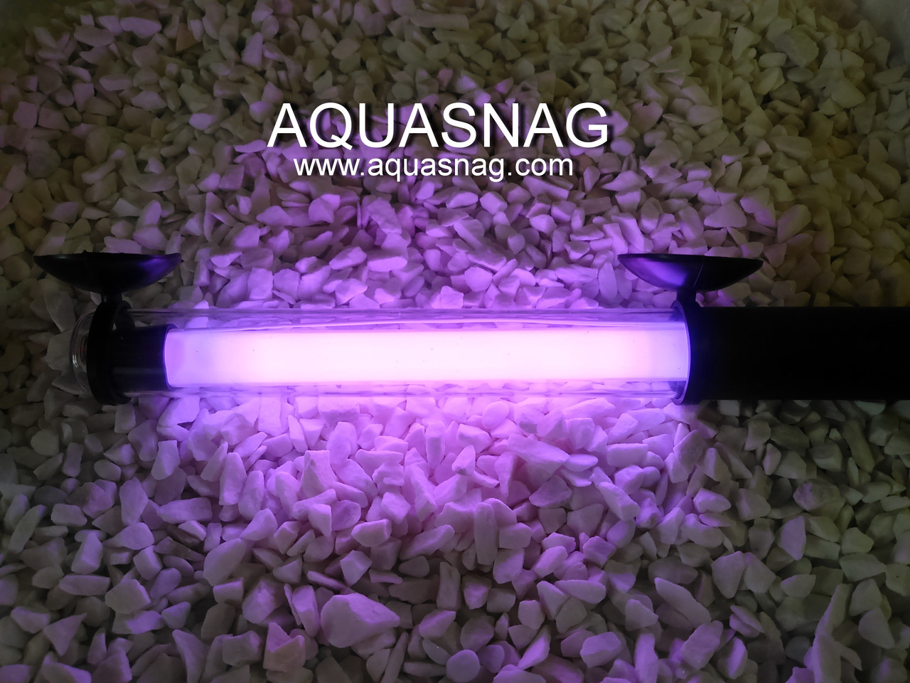Подводная лампа 35см розовая