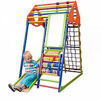 Детский спортивный комплекс р аннего развитиядля дома «KindWood Color Plus» ТМ SportBaby