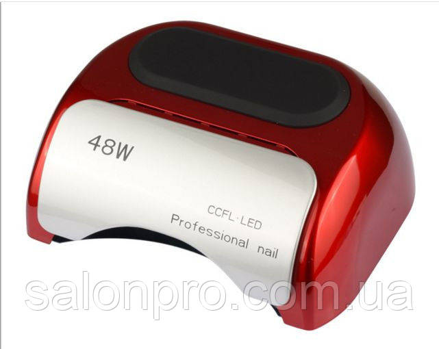 LED+CCFL лампа для гель-лаков и геля 48 Вт, красная