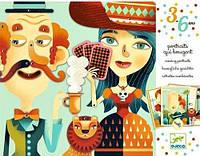 """Детский художественный комплект """"Подвижные портреты"""" от 3 лет ТМ DJECO DJ08973"""