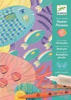 """Детский художественный комплект для рисования кистями """"Под водой"""" от 7 лет ТМ DJECO DJ08647"""