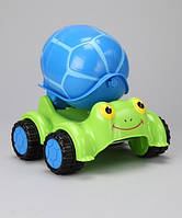 "Детский цементовоз ""Черепашка"" (Scootin' Turtle Cement Mixer) ТМ Melissa & Doug зелено-синий MD6271"