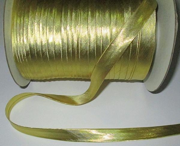Стрічка для окантовки/бейка 1,5 см, золотиста