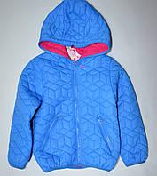 Голубая демисезонная куртка 104